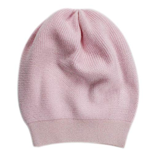 (WaySoft Pure 100% Cashmere Beanie for Women in a Gift Box, Oversized Women Beanie Hat, Bring Warm and Luxury to Your Loved Ones, Perfect (Pink Marshmallow))