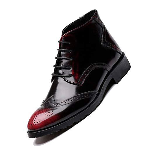 Mano Mano Scarpe Rosso Casual Casual Casual Fatti da in alla Caviglia Antiscivolo Chelsea Scarpe Stivali A Stivali Pelle Uomo Vintage Lavoro da PvWn7A7