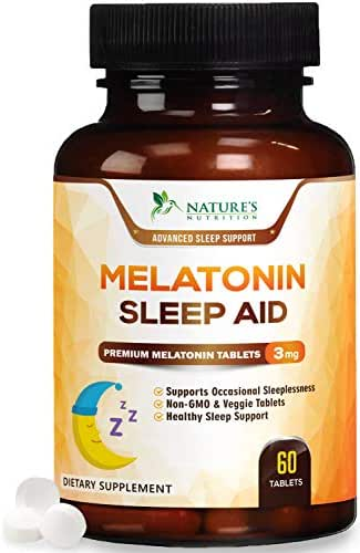 Melatonin Sleep Aid for Adults, Extra Strength Sleeping Pills 3mg - Easy to Take, Faster Absorption, Made in USA, Sleeping Aid Supplement - Fall Asleep Faster, Stay Asleep Longer - 60 Tablets