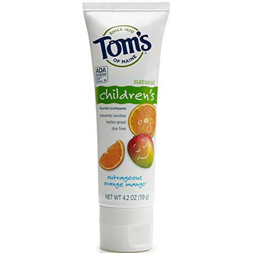 Tom's of Maine Anticavity Fluoride Children's Toothpaste, Outrageous Orange-Mango - 4.2 oz - 2 pk