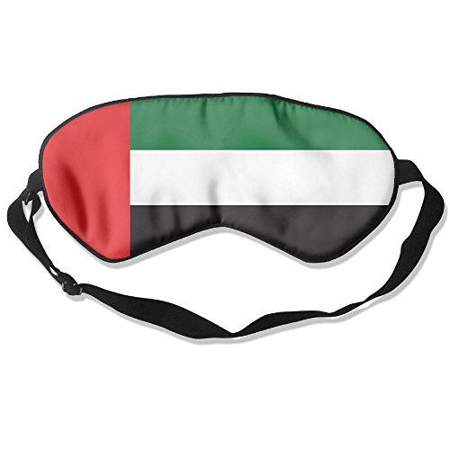 Longnankejilifeaa Sleep Eyes Masks Covers United Arab Emirates Flag Silk Sleeping Blindfold Multi Coloured Adjustable Strap Eyeshade For Travelling Shift Work Night Noon Nap Yoga