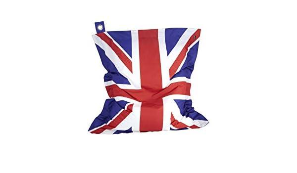 Oviala - Puf XL con cojín Impermeable, Bandera Inglesa ...