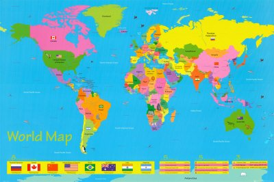 World map for kids art maxi poster print 61x91 cm amazon world map for kids art maxi poster print 61x91 cm gumiabroncs Images