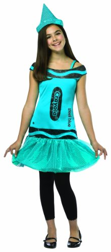 [Rasta Imposta Crayola Steel Glitz & Glitter Dress, Blue, Tween 10-12] (Crayola Steel Glitz Costumes)