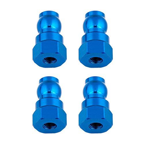 Team Associated Shock Bushings, 12mm, Blue Aluminum, ASC91816