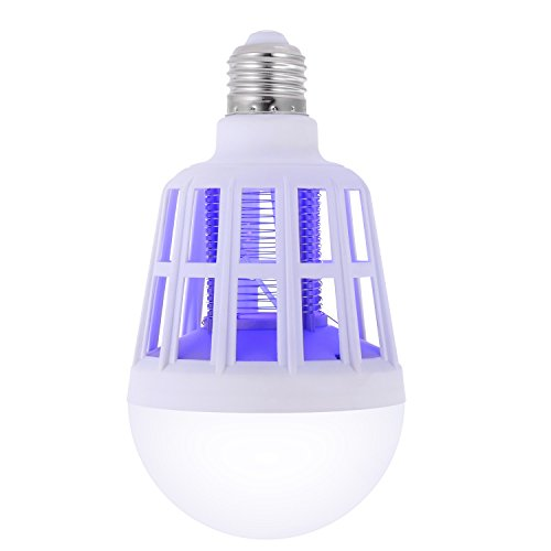 Sunnest Bug Zapper Light Bulb Electronic Indoor Insect Killer, Mosquito Killer, Mosquito Zapper, Fly Killer, Insect Trap, Fits in 110v Light Bulb Socket, ECO Friendly Safe Clean Affordable