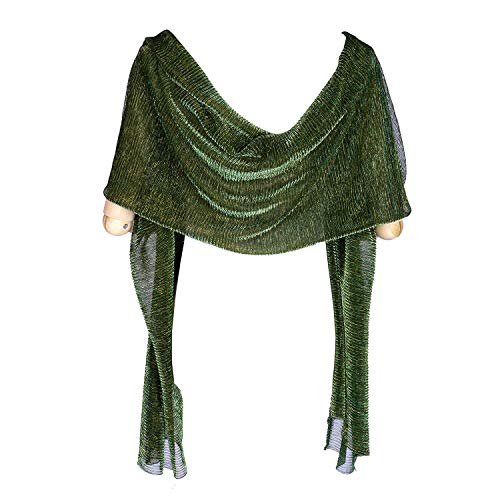 Sheer Glitter Sparkle Piano Shawl Wrap for Evening Dress 1920s Gatsby Weddings Evening Scarfs