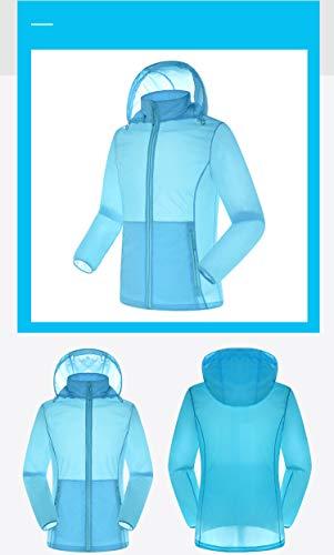 Cijfay Pure Size Coucher Du Vêtements Blue color Confort Long M Sens Uv Lâche Imperméable Femmes Coupe Blue D'extérieur Couple Manches Mince Soleil Protection Longues SqAnCS