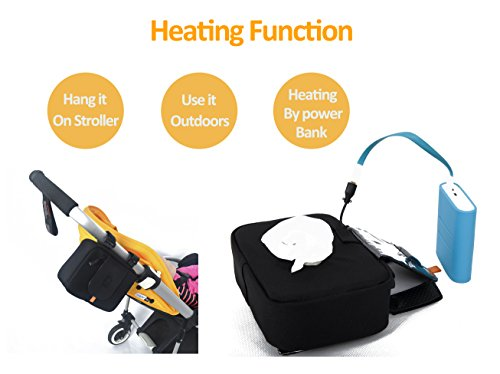 Puuli Indoor or Outdoor Wipes Warmer by Power Bank Cleanx Thermal Insulation Storage Holder For Bugaboo Stokke Quinny Inglesina Stroller by Puuli (Image #1)