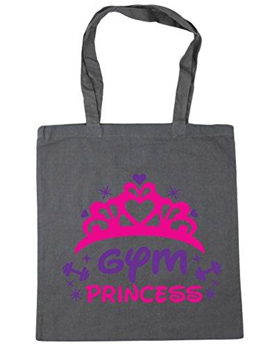 HippoWarehouse gimnasio princesa Tote Compras Bolsa de playa 42cm x38cm, 10litros gris grafito