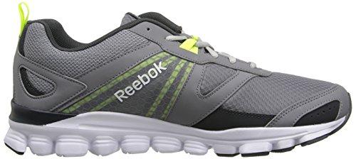 Reebok Mens Hexaffect Run Scarpa Da Corsa Nebbioso Grigio / Ghiaia / Bianco / Giallo Solare / Acciaio