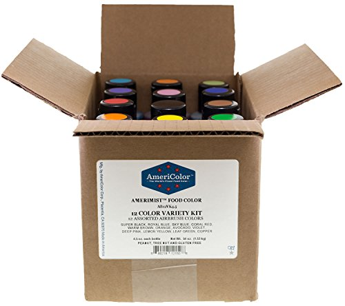 AmeriColor Airbrush Variety Kit 4.5 oz Food Color
