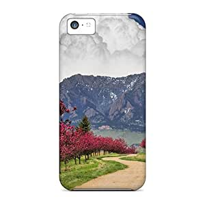 Iphone 5c Cases Covers Skin : Premium High Quality Mighty Clouds Over Wonderful Lscape Cases