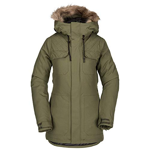 Volcom Women's Shadow Insulated Snow Jacket, Military, Small