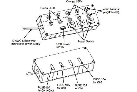 Amazon Com Skyrc Efuel Power Supply Charger Power Strip With Usb