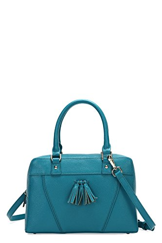 Mulholland Small Tassel Front Satchel With Top Zip_turquoise Nz024_turquoise