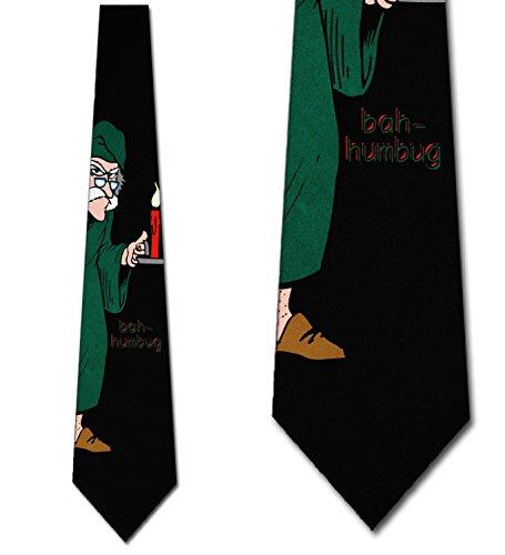 Bah Humbug tie Scrooge mens Christmas Neckties by Ralph Marlin