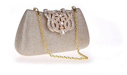 mode multicolore Gold embrayage à Portable cosmétique strass soirée de bandoulière Cross FZHLY Flash sac style sac Femmes à la Champagne robe sac 8vqPxnS4P