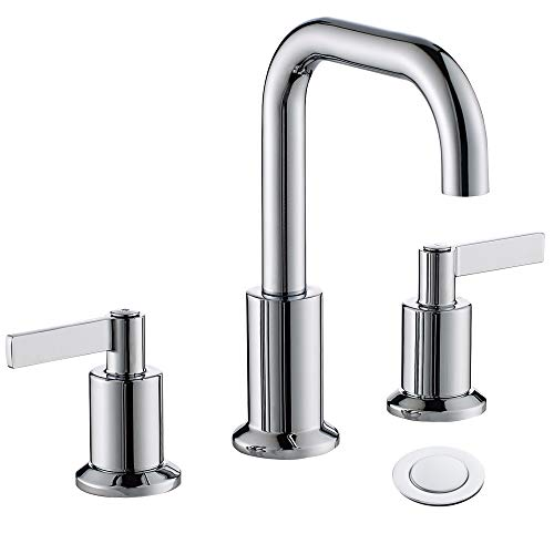 - TimeArrow TAF288S-CP Two Handle 8 inch Widespread Bathroom Sink Faucet with Pop-Up Drain, Chrome