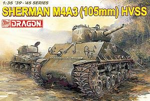 (DRAGON MODELS USA 6354 1/35 Sherman M4A3 W/105mm Howitzer Gun)
