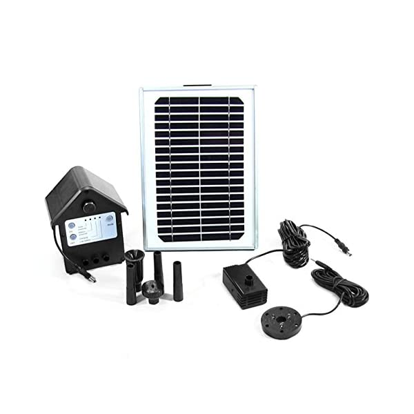 Sunnydaze-Solar-Pump-and-Solar-Panel-Kit-With-Battery-Pack-and-LED-Light-with-56