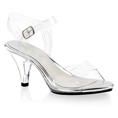 Fabulicious Women's Belle 308 Dress Sandal, Clear, 5 M US