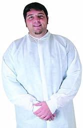 Dukal Anti-Static Lab Coat, Medium, White, No Pockets, Non-Sterile, 10/bg 5bg/cs 5 pcs sku# 1303819MA