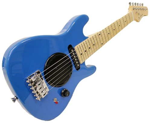 Child's Toy 30″ Electric Guitar w/ Built-in Amp – Includes Case & Acc. Kit (Blue)