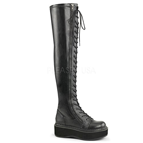 Demonia Women's Emily-375 Over The Knee Boot, Black Str Vegan Leather, 8 M US Demonias Knee Boots