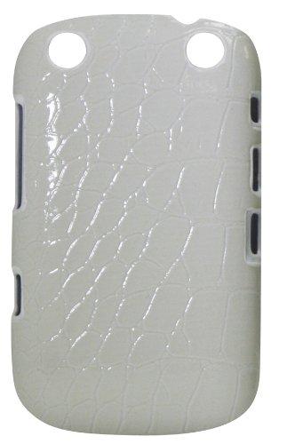 Exian BlackBerry Curve 9320 Case Crocodile Pattern White