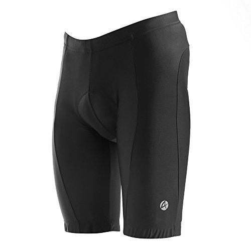 池北へ不満apt'(エーピーティー) レーサーパンツ 3Dパッド ハーフ ひざ上丈 サイクルパンツ 夏用 UVカット UPF50+ アウター用 メンズ フィット感抜群 バックポケット付き 大人用