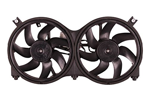 Dual Radiator and Condenser Fan Assembly - Cooling Direct For/Fit NI3115149 13-17 Nissan Pathfinder 14-14 Hybrid 14-18 Infiniti QX60/Hybrid 13-13 JX35