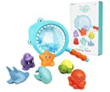 FUNFINDING Baby Bath Bathtub Toy Fishing Game Floating Squirts Bathroom Pool Toys for Kids Toddler