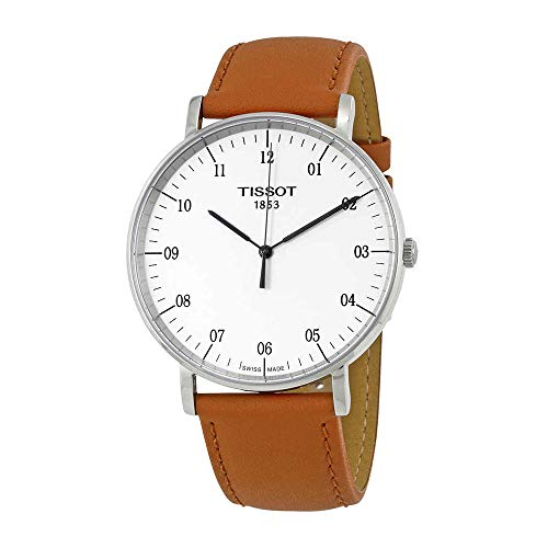Tissot T-Classic Everytime White Dial Mens Watch T1096101603700 (White Watch Tissot)
