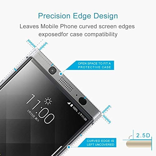 Lihuoxiu Phone Screen Protectors 100 PCS for BlackBerry Keyone 0.26mm 9H Surface Hardness 2.5D Curved Edge Tempered Glass Screen Protector
