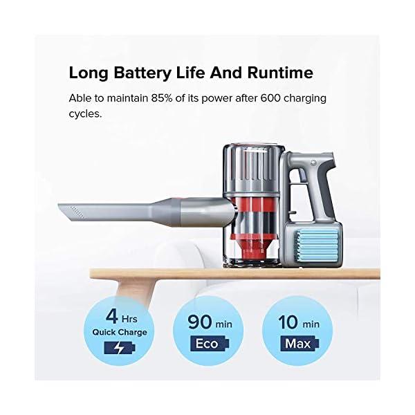 Aspirapolvere senza fili H6, Aspirapolvere senza fili 150AW Aspirazione 1.4kg Leggero 80Wh Batteria Lion Sistema di aggancio 2 in 1 Scopa elettrica 3 spesavip