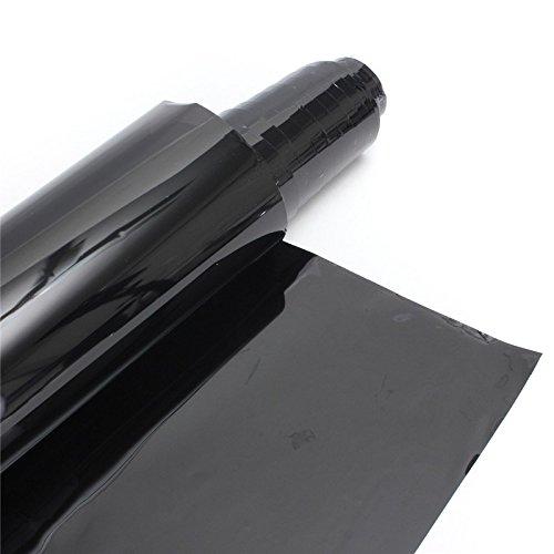 XZANTE 50 cm x 3 m Ventana Tinte pelicula Tenido Rollo Kit VLT Negro Ultravioleta-Prueba Resistente a los aranazo para Auto Coche casa Comercial transmision 35/%