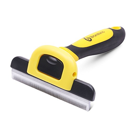 Brandismo Professional Dog and Cat Grooming Brush, Essential Deshedding Tool For Small, Medium & Large Pet, With Short to Long Hair