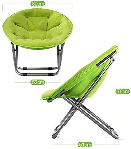 Stor vuxen stol hopfällbar stol solstol solstol monterad på den avtagbara bärbara cirkulära bomullsbakväskehållare, rosa gRÖN