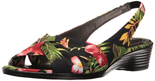 - LifeStride Women's Mimosa 2 Flat Sandal, Black Multi, 9 M US