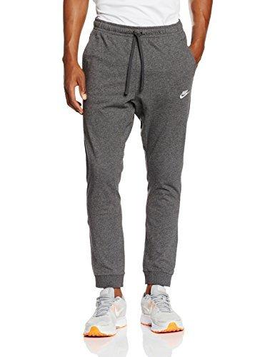 Nike Mens Cuffed Jogger Cotton Jersey Light Sweatpants Dark Grey/White 804461-071 Size X-Large