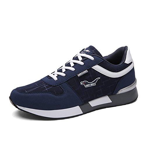 Uomo Sport Outdoor Running Scarpe Da Trekking Leggero Casual Sneakers 399 Blu Scuro