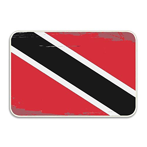 Carl McIsaacDoor Vintage Flag of Trinidad and Tobago Doormat Perfect Color Sizing for Outdoor/Indoor Uses 16 X 24 Inch ()
