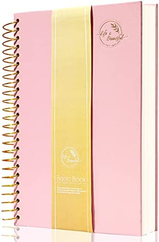 Hardcover Spiral Notebooks A5 1 Subject College Ruled Notebooks for School Office & Home College Essentials Composition Notebook 150 Sheets Wire Bound Journal School Supplies (A5pink)