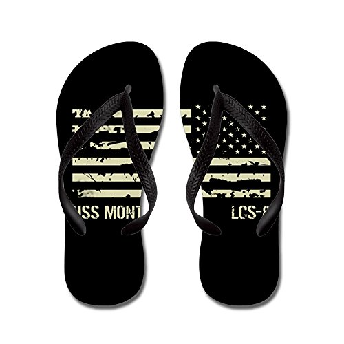 CafePress USS Montgomery - Flip Flops, Funny Thong Sandals, Beach Sandals Black