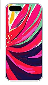 iPhone 5S Case, Unique Design Protective iPhone 5 5S PC Hard White Edge - Colorful Bg Case Cover