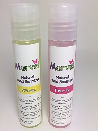 NATURAL HAND SANITIZER CONTAINING ESSENTIAL OILS- FRUTTY & CITRUS AROMAS