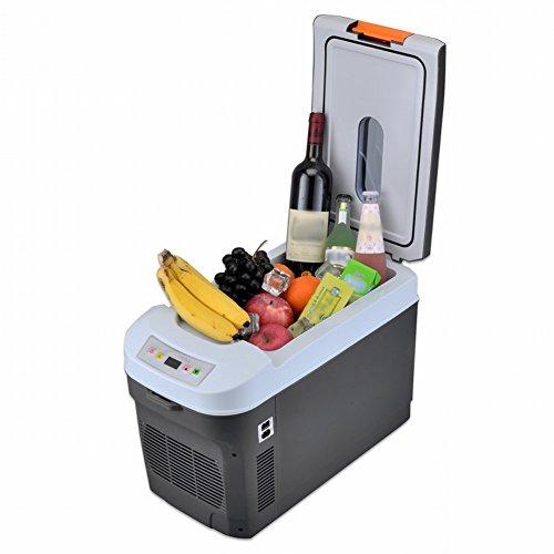 el Refrigerador Del Coche 25L de Doble Núcleo Del Coche Casero Coche Refrigerador de la Caja Fría de Insulina Puede Ser Enfriado / Calefacción,Gris,25L by HOMEE @