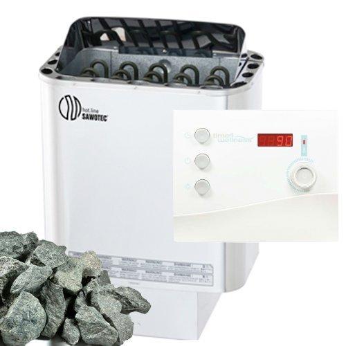 Sawo Nordex Saunaofen 6 kW + Saunasteuerung Ondal K2 für die finnische Sauna + Steine