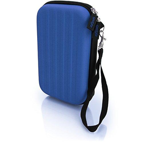 igadgitz Blau EVA Hart Tasche Schutzhülle fur Neu Nintendo 3DS XL 2015 Etui Case Cover mit Tragegurt
